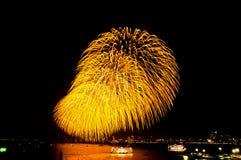 Fireworks  beautiful. In pattaya thadilan Stock Photography