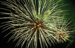 Fireworks beautiful bright colors and shapes Royalty Free Stock Photos