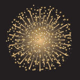 Fireworks. Beautiful colorful sparkling fireworks on dark gray background Stock Images
