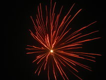 Fireworks. Beautiful fireworks in the dark night Stock Photo