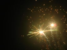 Fireworks. Beautiful fireworks in the dark night Stock Image