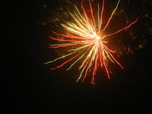 Fireworks. Beautiful fireworks in the dark night Royalty Free Stock Photo