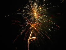 Fireworks. Beautiful fireworks in the dark night Royalty Free Stock Photography