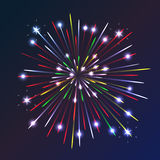 Fireworks. Beautiful fireworks exploding over a dark night sky Royalty Free Stock Photography