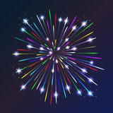 Fireworks. Beautiful fireworks exploding over a dark night sky Royalty Free Stock Photo