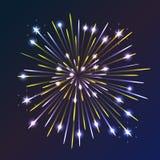 Fireworks. Beautiful fireworks exploding over a dark night sky Stock Photo