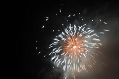 Fireworks. Beautiful lighting effect of fireworks Royalty Free Stock Image