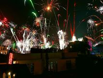 Fireworks. A beautiful scenario of fireworks on the night of diwali Royalty Free Stock Photos