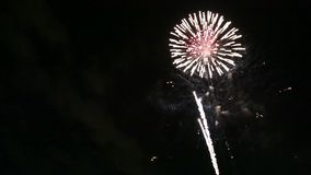 Fireworks. A beautiful fireworks show video