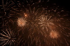 Fireworks. Beautiful fireworks to celebrate new year royalty free stock photos