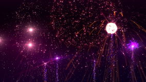 Fireworks. Beauty fireworks animation on dark background