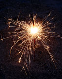 Fireworks bengal sparkler. Abstract fireworks stick with fly stars Royalty Free Stock Images