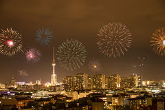 Fireworks in berlin Royalty Free Stock Photos