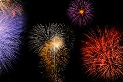 Fireworks. Big Fireworks over the River Stock Images