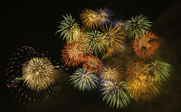 Fireworks in Biwa-Lake Stock Images
