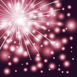 Fireworks. On a black background Stock Photos
