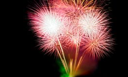 Fireworks on black background Royalty Free Stock Photos