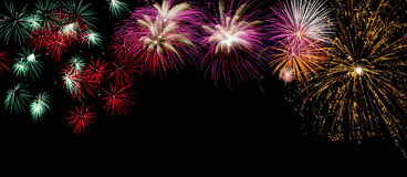 Fireworks. On a black background royalty free stock photos