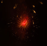 Fireworks  on a black background. Colorful fireworks explosion  ton a black background Stock Image