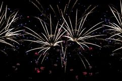 Fireworks on black background for cut out. stock photography