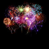 Fireworks on black background Royalty Free Stock Photography