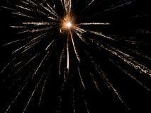 Fireworks in a black background sky royalty free stock photos
