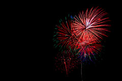Fireworks in black background royalty free stock images