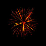 Fireworks 213. Fireworks on a black background tracing Image Royalty Free Stock Images