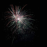 Fireworks on black Royalty Free Stock Photos