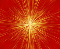 Fireworks Blast. Bright and vivid orange and yellow and red tones burst of rays like the sun or spectacular fireworks Stock Image