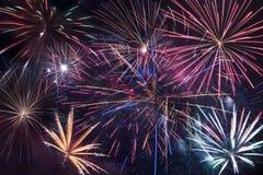 Fireworks Blast Background. Colorful Fireworks Backdrop Stock Photos