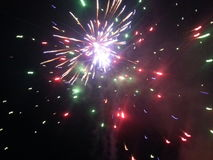 Fireworks Blast. Sparks, fire, color, show, fireworks, stars, brilliance, light, fun, holiday Royalty Free Stock Photos