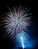 Fireworks blasts on black sky Stock Photos