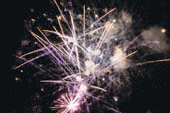 Fireworks on blue sky Royalty Free Stock Images