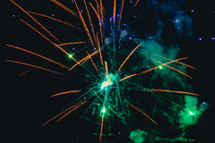 Fireworks on blue sky Royalty Free Stock Image