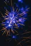Fireworks on blue sky Stock Photos