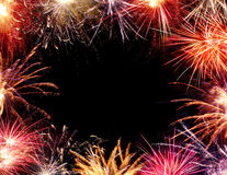 Fireworks Border Royalty Free Stock Photos