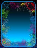 Fireworks border Royalty Free Stock Images