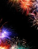 Fireworks. Border with space for copy royalty free stock image