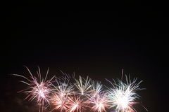 Fireworks in the bottom Royalty Free Stock Images