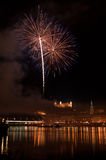 Fireworks in Bratislava Royalty Free Stock Photo