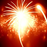 Fireworks. Bright glowing fireworks exploding in the night sky Stock Photo