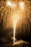 Fireworks bright lines Stock Photography