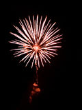 Fireworks. Brightly Colorful Fireworks isolated black background. New Year celebration fireworks Stock Photography