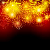 Fireworks. Brightly fireworks in the night sky. Vector illustration Royalty Free Stock Image