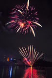 Fireworks in Brisbane - 2014 Royalty Free Stock Photography