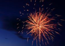 Fireworks Burst Stock Photo