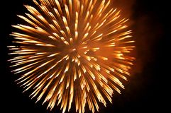 Fireworks Burst. Fireworks in an abstract formation Royalty Free Stock Photography