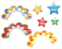 Fireworks burst. Illustration from original . Collection of design elements for holiday celebrations Stock Photos