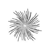 Fireworks burst design. Fireworks burst effect decoration icon over white background. vector illustration Stock Image